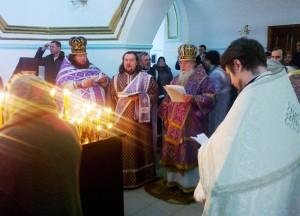 Панихида. Самарский монастырь 14 марта 2015 г.
