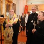 Митрополит Ириней, епископ Евлогий, иеромонах Алексий
