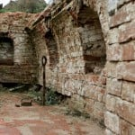Фундамент колокольни, раскопки