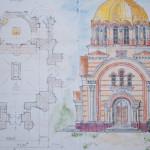 План-схема строящейся колокольни